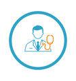 doctor and medical services icon flat design vector image