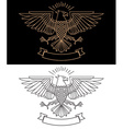 eagle in line style vector image