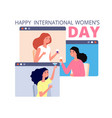 female festive time girls friends womens day vector image vector image