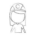 Female miner avatar character vector image