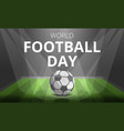 football day concept background cartoon style vector image