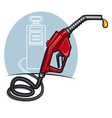 fuel dispenser vector image vector image