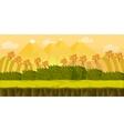 game 2d autumn park landscape with hills vector image