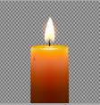 golden yellow candle vector image vector image