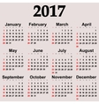 Great new wall calendar 2017 vector image vector image