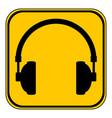 headphones icon on white vector image vector image