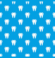 hygiene of tooth pattern seamless blue vector image vector image