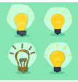 Idea Lamp Green Background vector image vector image
