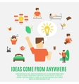 Ideas Concept Flat vector image