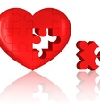 jigsaw heart vector image