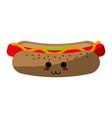 kawaii fast food icon image vector image vector image