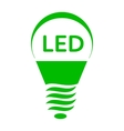 LED bulb light icon simple style vector image