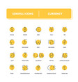 line icons set currency vector image vector image