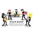 musicians rock group play guitarsinger vector image