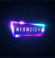 night club neon sign retro light signage on brick vector image vector image