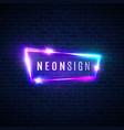 night club neon sign retro light signage on brick vector image