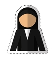 nun avatar isolated icon vector image vector image