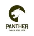 panther animal head logo design vector image