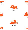 pattern with cute fox vector image vector image