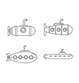 periscope telescope icons set outline style vector image