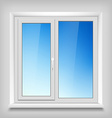 Plastic white window vector image