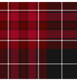 Pride of wales fabric texture red and black tartan vector image vector image