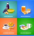 realistic breakfast design concept vector image vector image