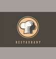 restaurant chef symbolsign logo vector image vector image