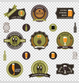 retro beer emblems set - iconslabels posters vector image