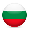 Round glossy icon of bulgaria vector image vector image