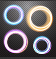 round neon light effect design element vector image vector image