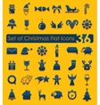 Set of Christmas icons vector image vector image
