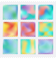 set of hologram colorful backgrounds vector image vector image