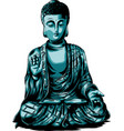 sketch with buddha drawing vector image