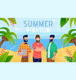 summer vacation on exotic resort banner vector image vector image