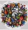 turkey hand drawn cartoon doodles vector image