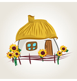 ukrainian house cartoon vector image vector image