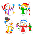 white snowman with the different posing vector image vector image