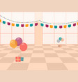 with celebration room balloons and flags vector image vector image