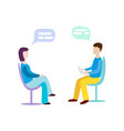 woman talking to psychotherapist or psychologist vector image