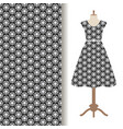 womens dress fabric starry pattern vector image vector image