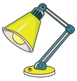 yellow desk lamp on white background vector image vector image