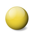 yellow glossy sphere ball or orb 3d vector image vector image
