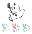 Stylized of a Dove vector image