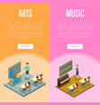 arts and music lesson at school vector image