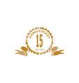 15 years ribbon anniversary vector image