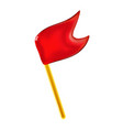 3d red glossy pennant or little flag for holiday vector image vector image