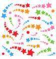 a set of colored cartoon stars abstract fantastic vector image vector image