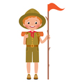 a smiling child boy scout vector image vector image