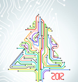 Abstract metro scheme christmas card vector image vector image